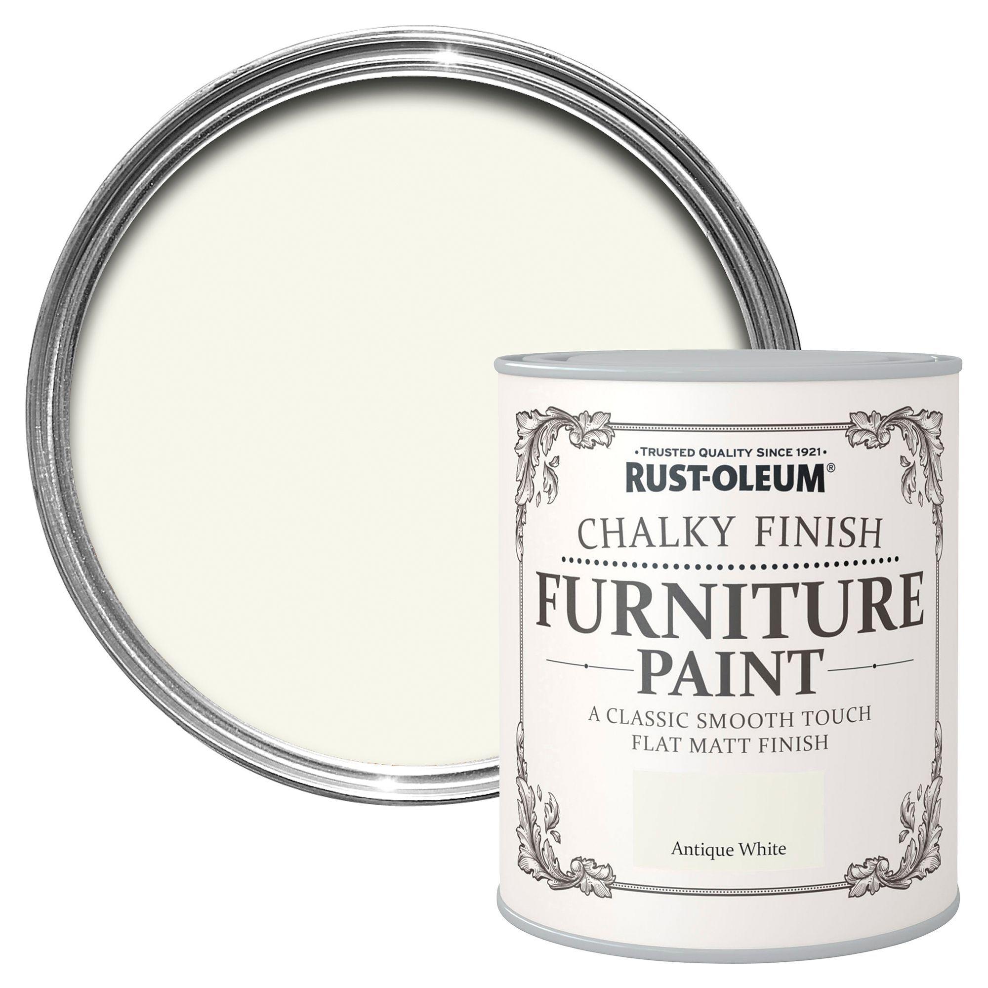 Rust Oleum Antique White Chalky Matt Furniture Paint 750ml Departments Diy At B Amp Q Painted Furniture Rustoleum Painted Outdoor Furniture
