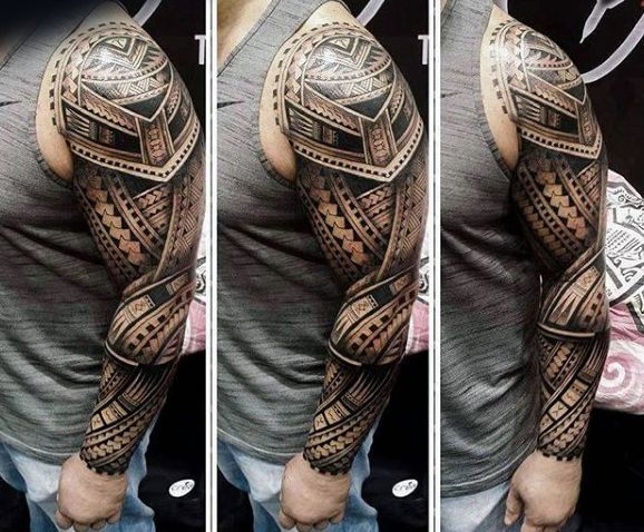 incredible 3d maori male tattoo full sleeve tri me tattoos pinterest polynesisch maorie. Black Bedroom Furniture Sets. Home Design Ideas