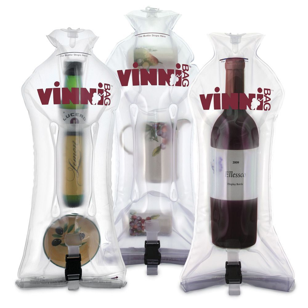 Bolsa inflable para viajar, perfecta para botellas de vino/licor | Inflatable travel bag, perfect for wine/liquor bottles