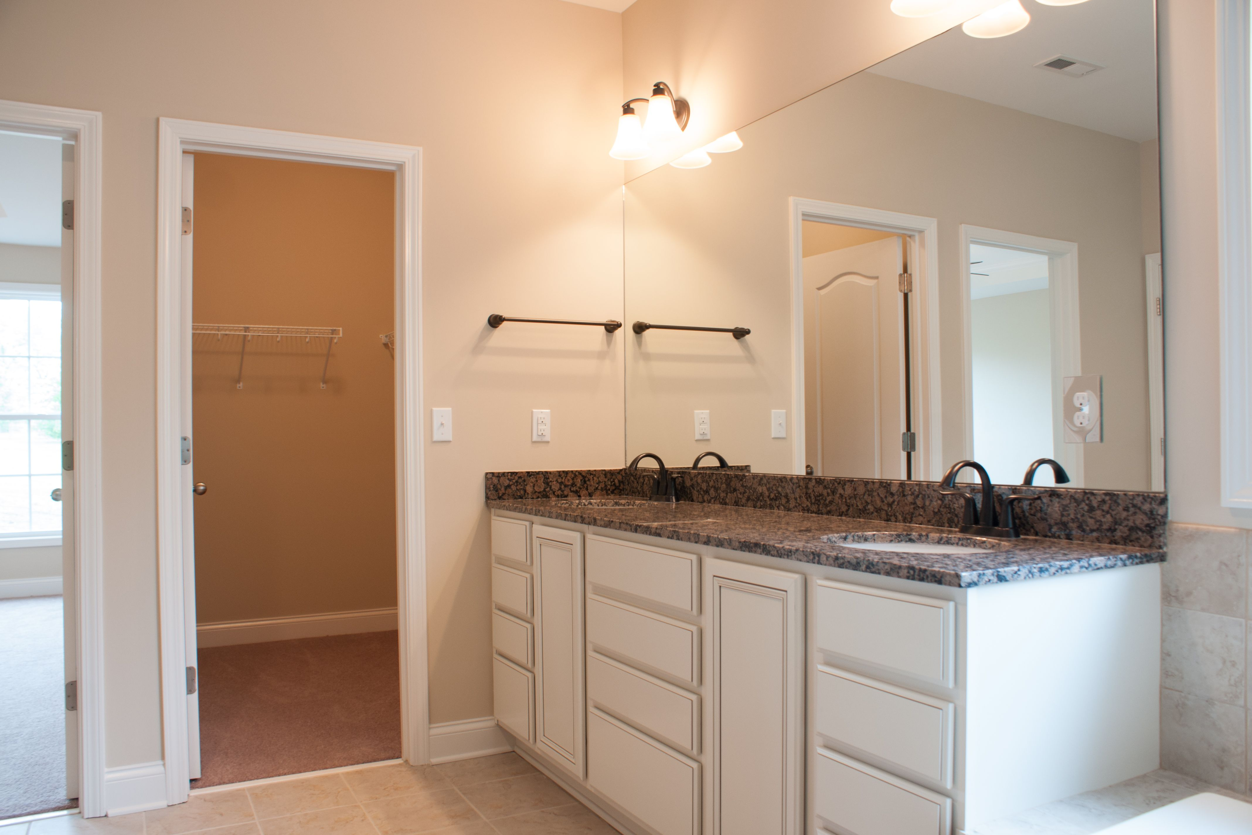 The master bathroom of the westmont ii floor plan by ball homes