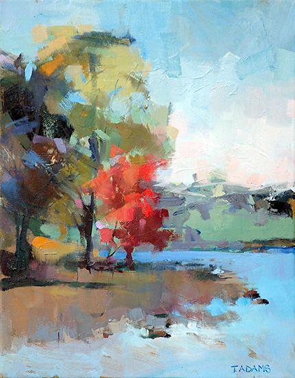 Water S Edge By Trisha Adams Oil 14 X 11 Abstract Landscape Painting Landscape Art Landscape Paintings