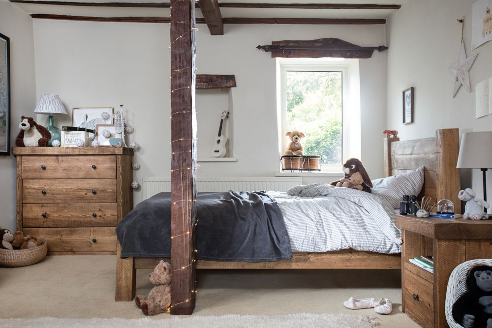 Our Rustic Wooden Bedroom Furniture Is Handcrafted In Our Own North East England Based Workshop Using The Hig Wooden Bedroom Furniture Furniture Wooden Bedroom