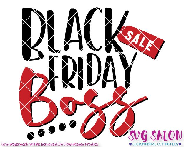 Black Friday Boss Cut File in SVG, EPS, DXF, JPEG, and PNG