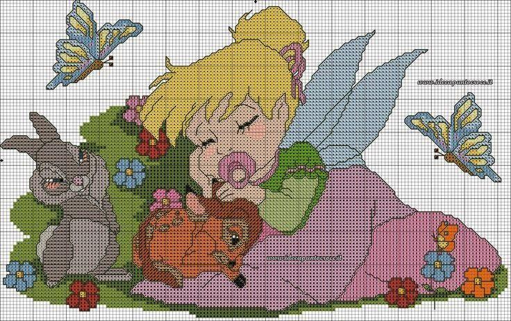 ♥Meus Gráficos De Ponto Cruz♥: Disney: Princesas Baby em Ponto ...