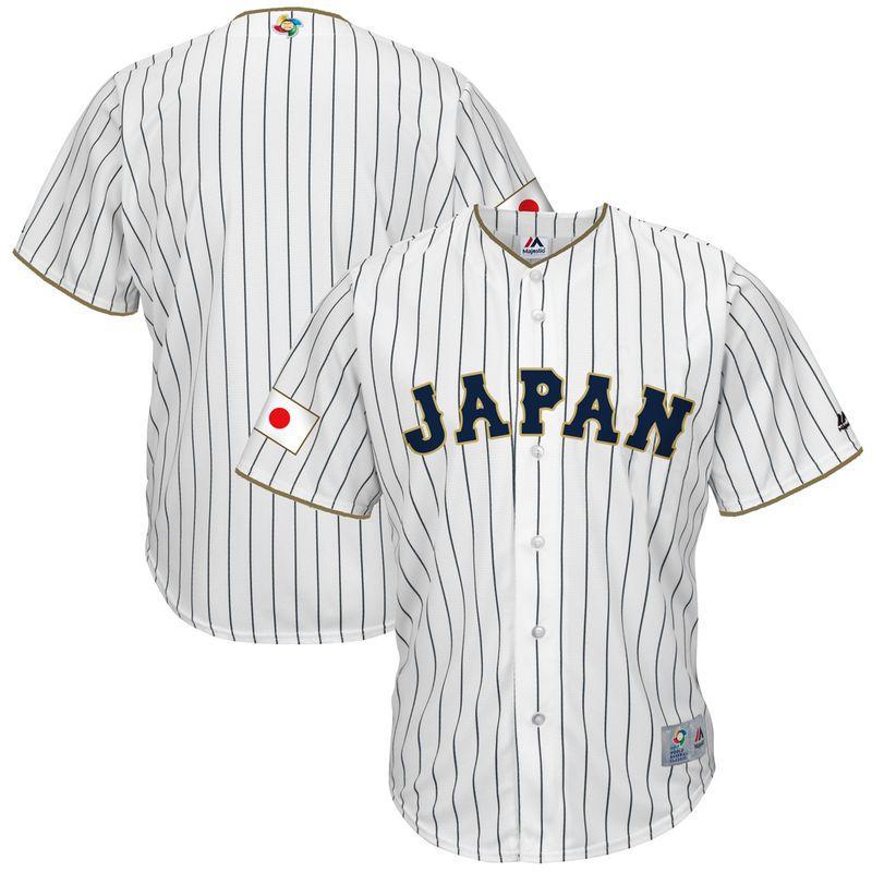 a4166d149a4 Japan Baseball Majestic 2017 World Baseball Classic Replica Team Jersey -  White