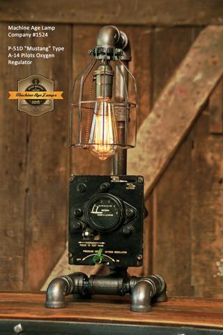 Steampunk Table Lamp, Aviation Desk Lamp