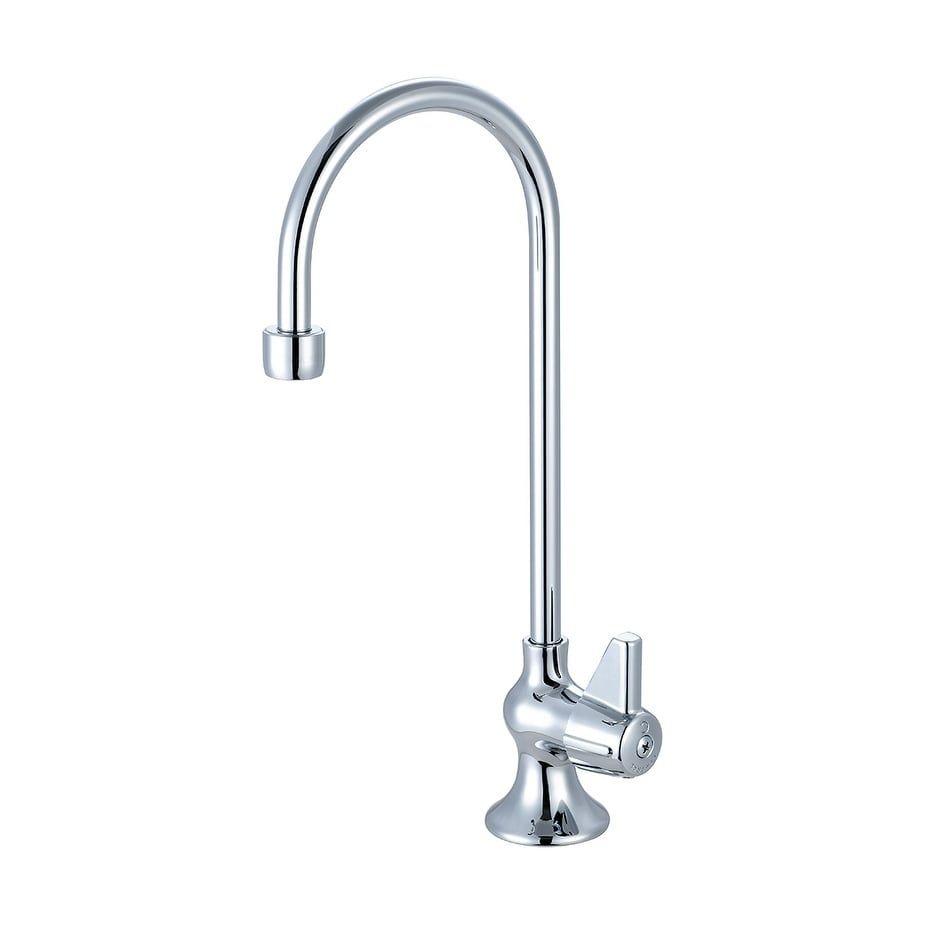 Central Brass Single Handle Bar Faucet 4 11 16 Gooseneck Rigid Spout Chrome Chrome Grey Bar Faucets Faucet Polished Chrome