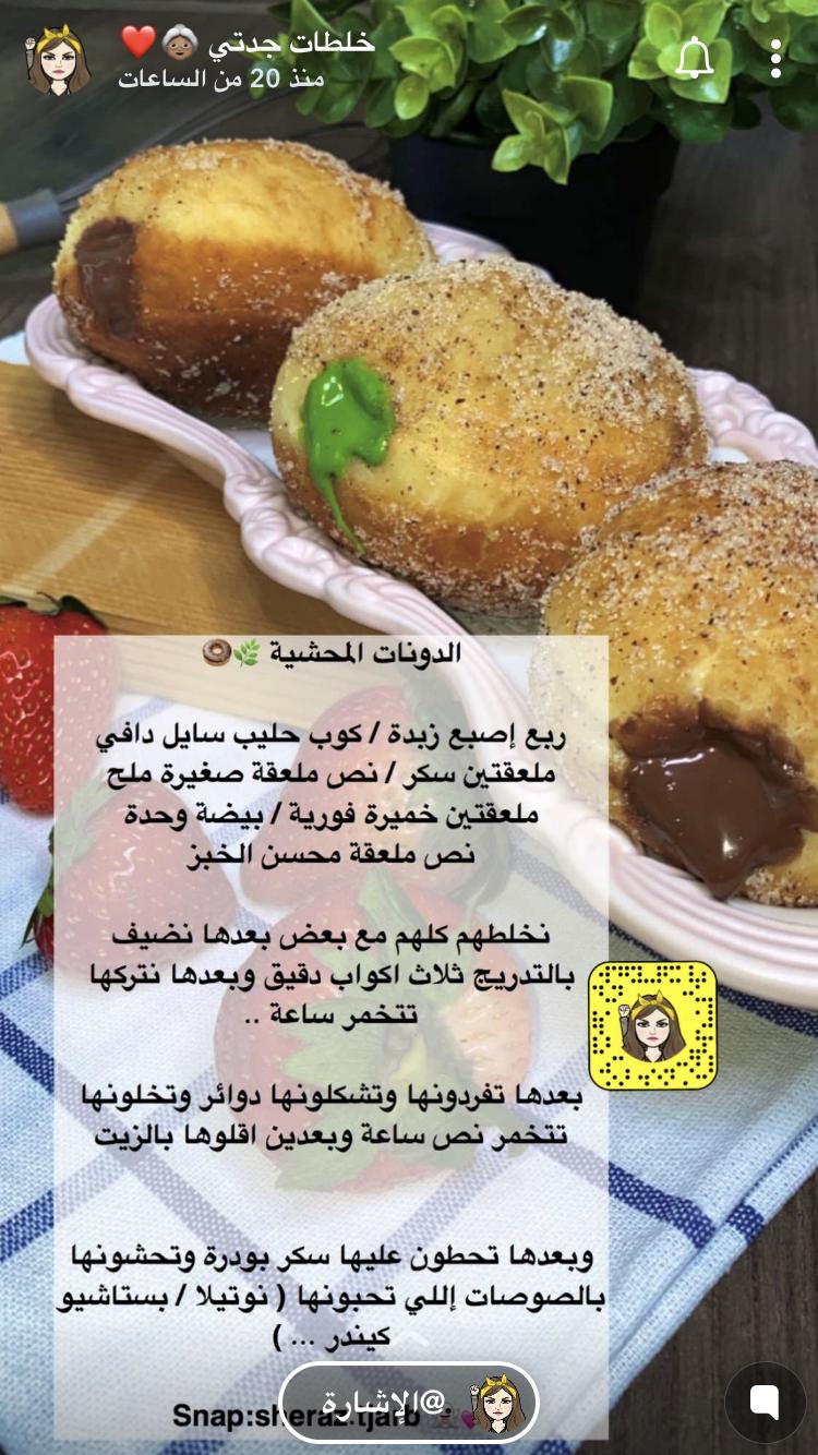 الدونات المحشيه In 2020 Yummy Food Dessert Yummy Food Food