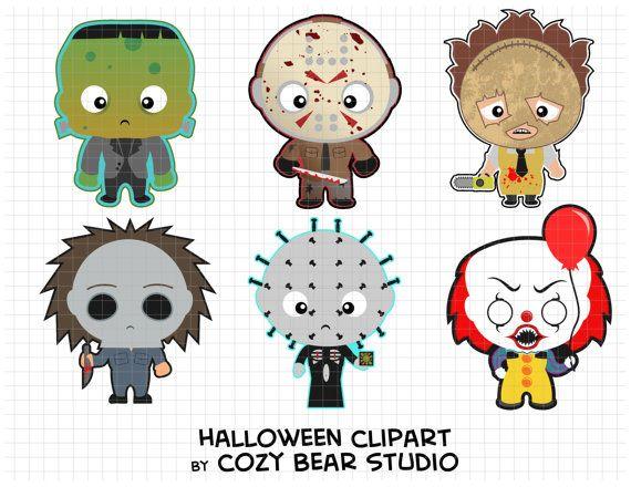 Halloween Clipart - Frankenstein\'s Monster, Jason Voorhees ...