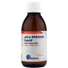 Ultra EPA/DHA Liquid Natural Orange Flavor, 5.1 Oz, Pharmax