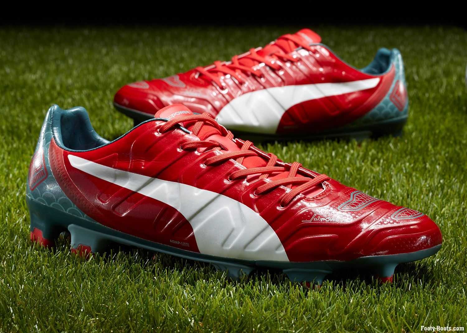 dd3d20668b60 Find out everything you need to know about the Puma evoPOWER football boot  - colourway - High Risk Red, White, Sea Pine >>