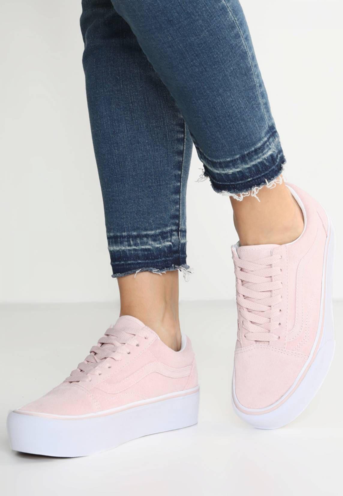 Vans. OLD SKOOL PLATFORM - Sneakers laag - sepia rose true white. voering 88617138d
