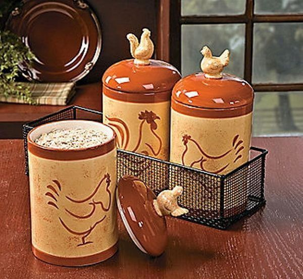 country creamer and sugar  | Country Kitchen Ceramic Rooster Chicken Hen Creamer Cream and Sugar ...