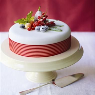 Cake Decorated With Fruits Pinterest : Crystallised Fruits and Berries Christmas Cake Tutorial ...