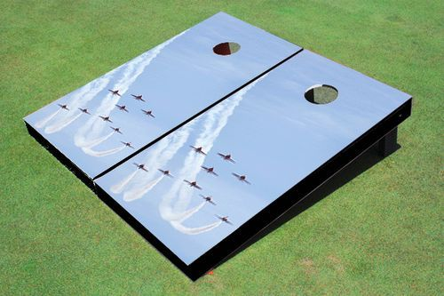 Jet Formation #1 Theme Cornhole Boards