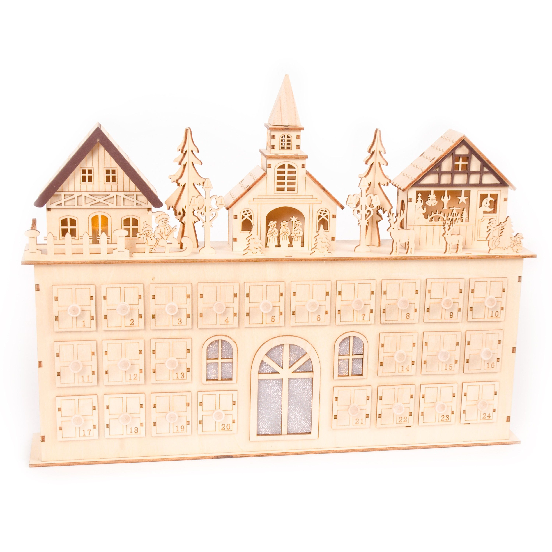 Wooden Musical Reusable Advent Calendar Holiday Inspiration