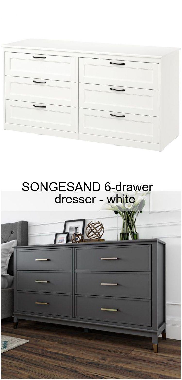 Songesand 6 Drawer Dresser White 6drawer Dresser Songesand White 6 Drawer Dresser Dresser Bedroom Chest Decor [ 1560 x 750 Pixel ]