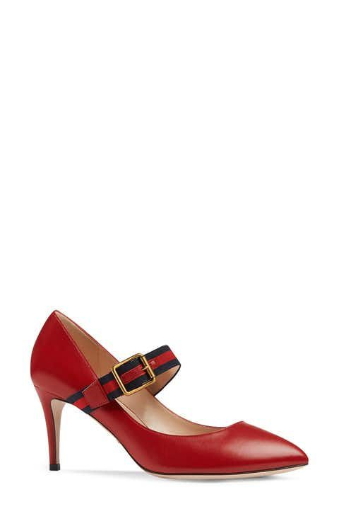 Gucci Sylvie Mary Jane Pump (Women)