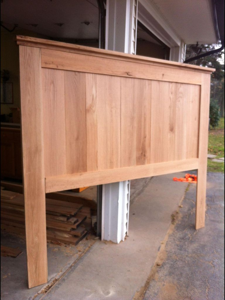Reclaimed Oak headboard Handyman projects, Wood beds
