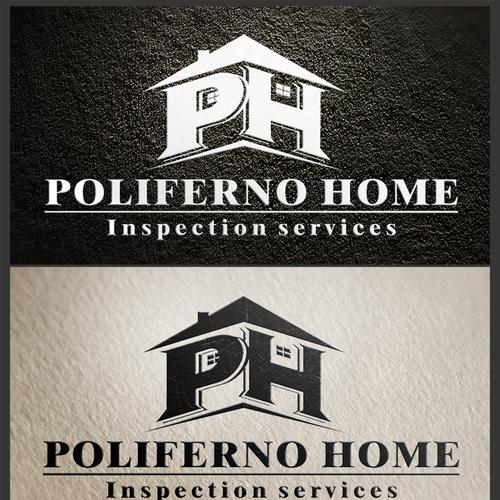 Poliferno Home Inspection Services   Poliferno Logo Design