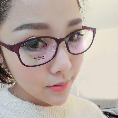 332996218ce Girls TR 90 Optical Glasses Frame for Prescription Eyeglasses Black Red  Purple Blue Frame Cute Sweet Women Glasses Frames