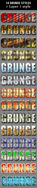 14 Grunge Layer Styles