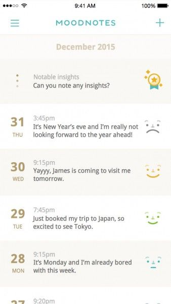 Keep track of your emotional rollercoasters with Moodnotes