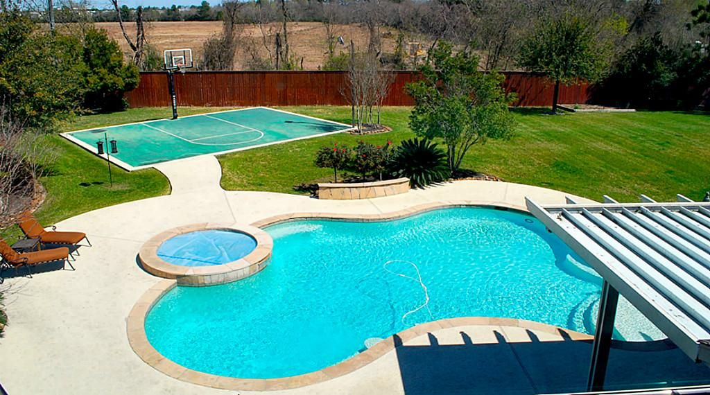 Sport courts google search backyard ideas pinterest for Sports pool designs