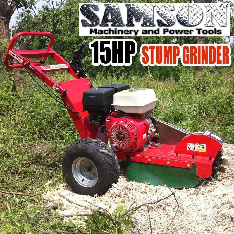 Stump Grinder 15HP Gas Powered Walk Behind Wood Cutter