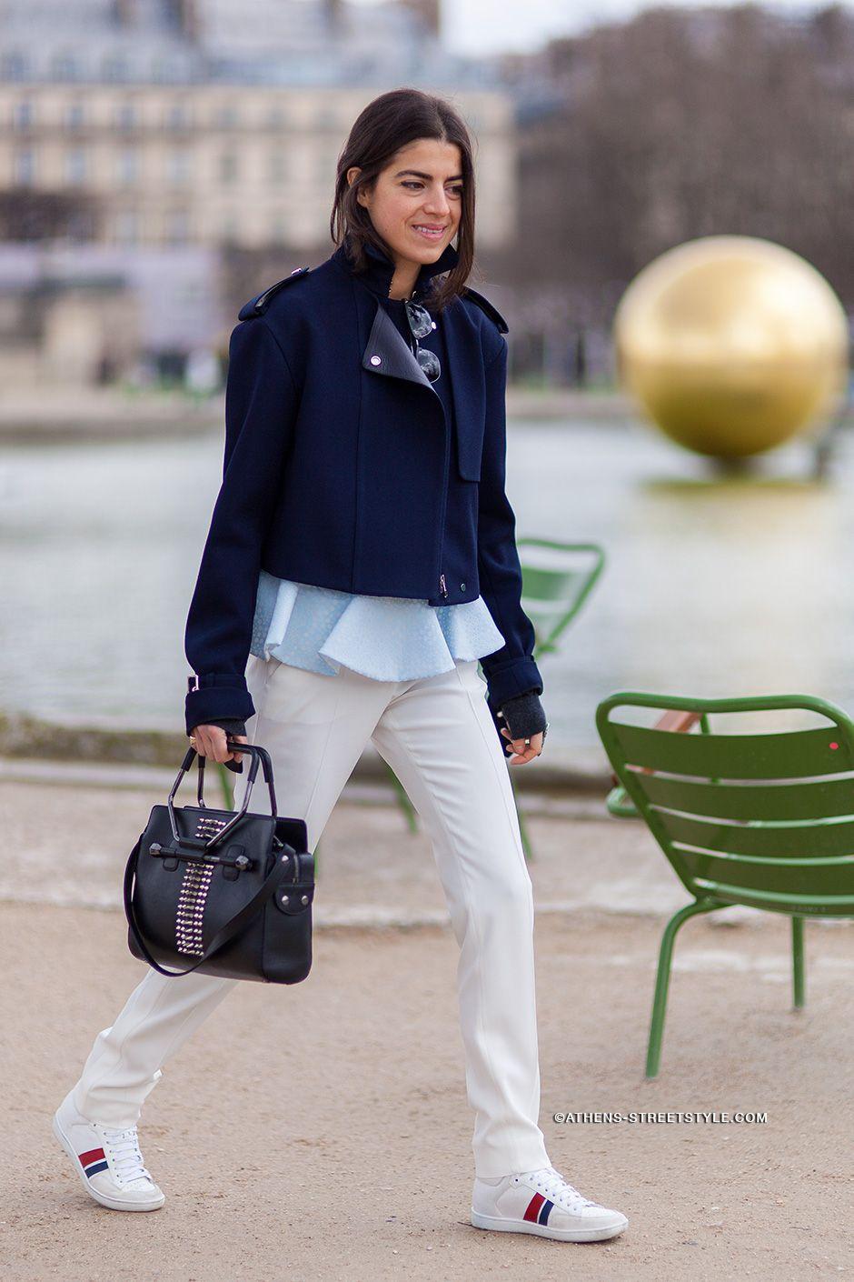 Leandra looking exceedingly cool in Paris. #LeandraMedine #ManRepeller