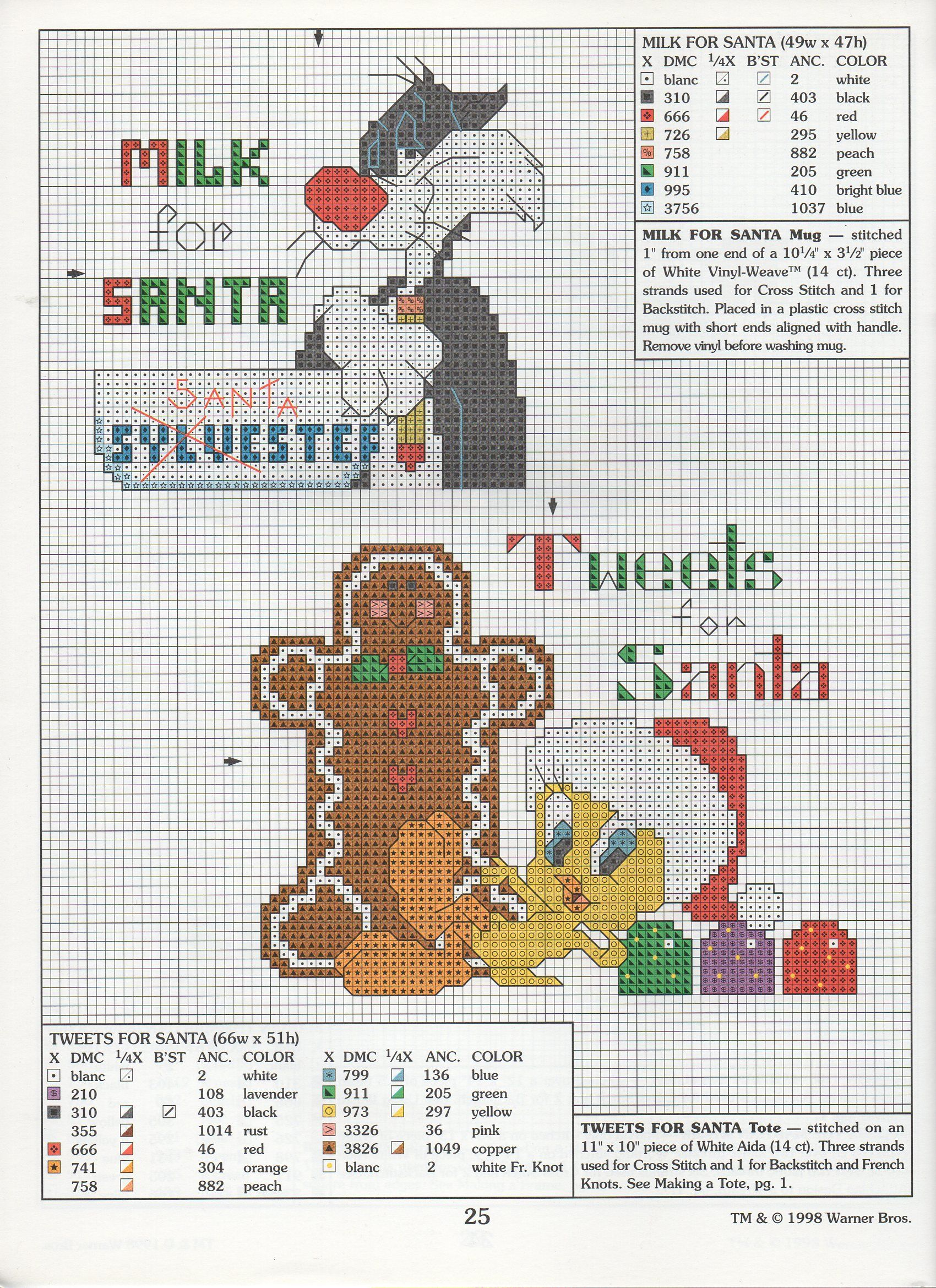 Point de croix Noël *<3* Cross stitch Christmas | navidad ...