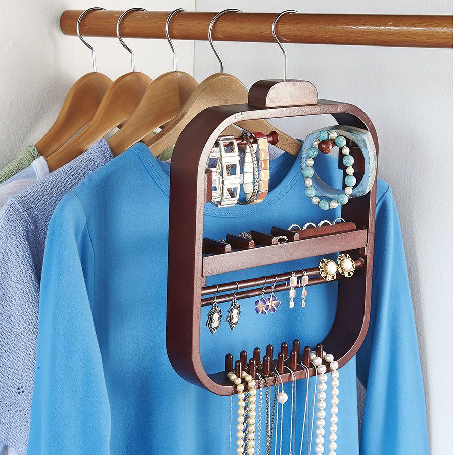 Wooden Hanging Jewellery Organiser Innovations ORGANISING