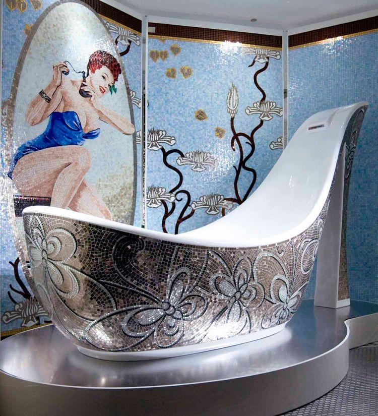 Mosaik Fliesen fürs Badezimmer \u2013 65 Ideen für die Muster und - muster badezimmer fliesen