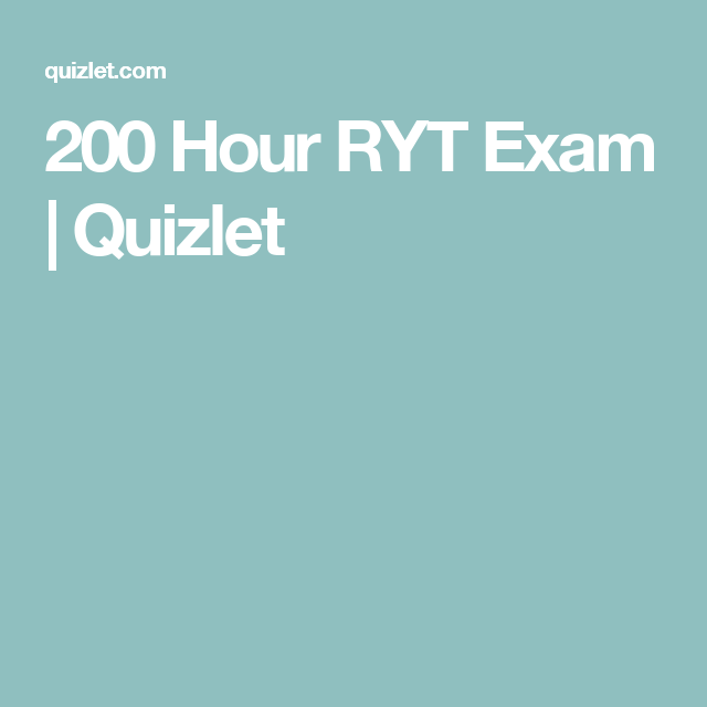 200 hour ryt exam quizlet ryt pinterest 200 hour ryt exam quizlet ccuart Image collections