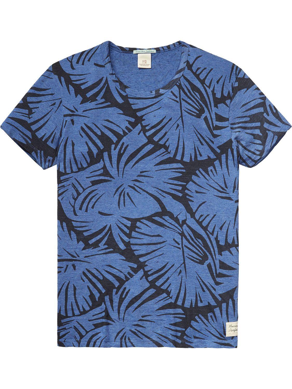 Printed Short Sleeve T-Shirt | T-shirts ss | Men Clothing at Scotch & Soda