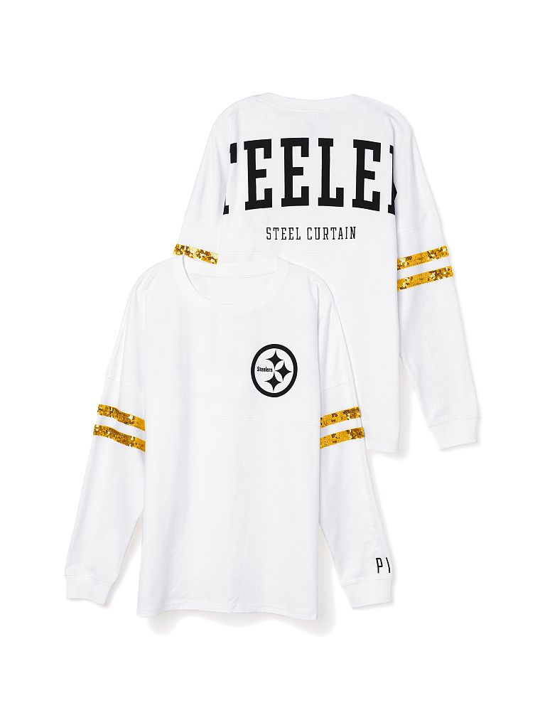 Pittsburgh Steelers Bling Varsity Crew - PINK - Victoria s Secret ... 76f601b1b