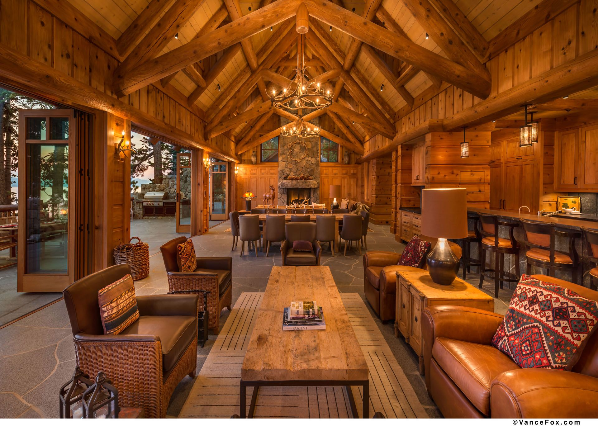 Log home interior ideas rocky point south  olson u olson architects llp  home  pinterest