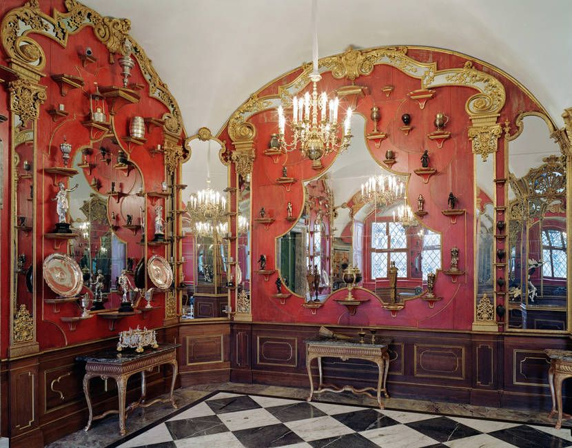 White Silver Room Historic Green Vault Dresden Germany Dresden Historic Museums Saxony