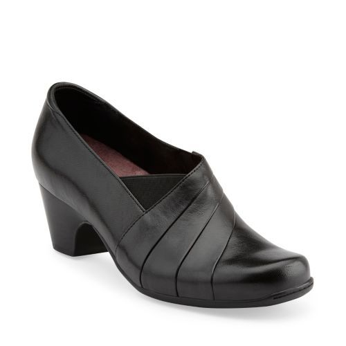 Womens Shoes Clarks Sugar Spice Black Leather