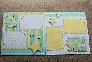 Cricut - baby scrapbook layout | Baby boy scrapbook ...