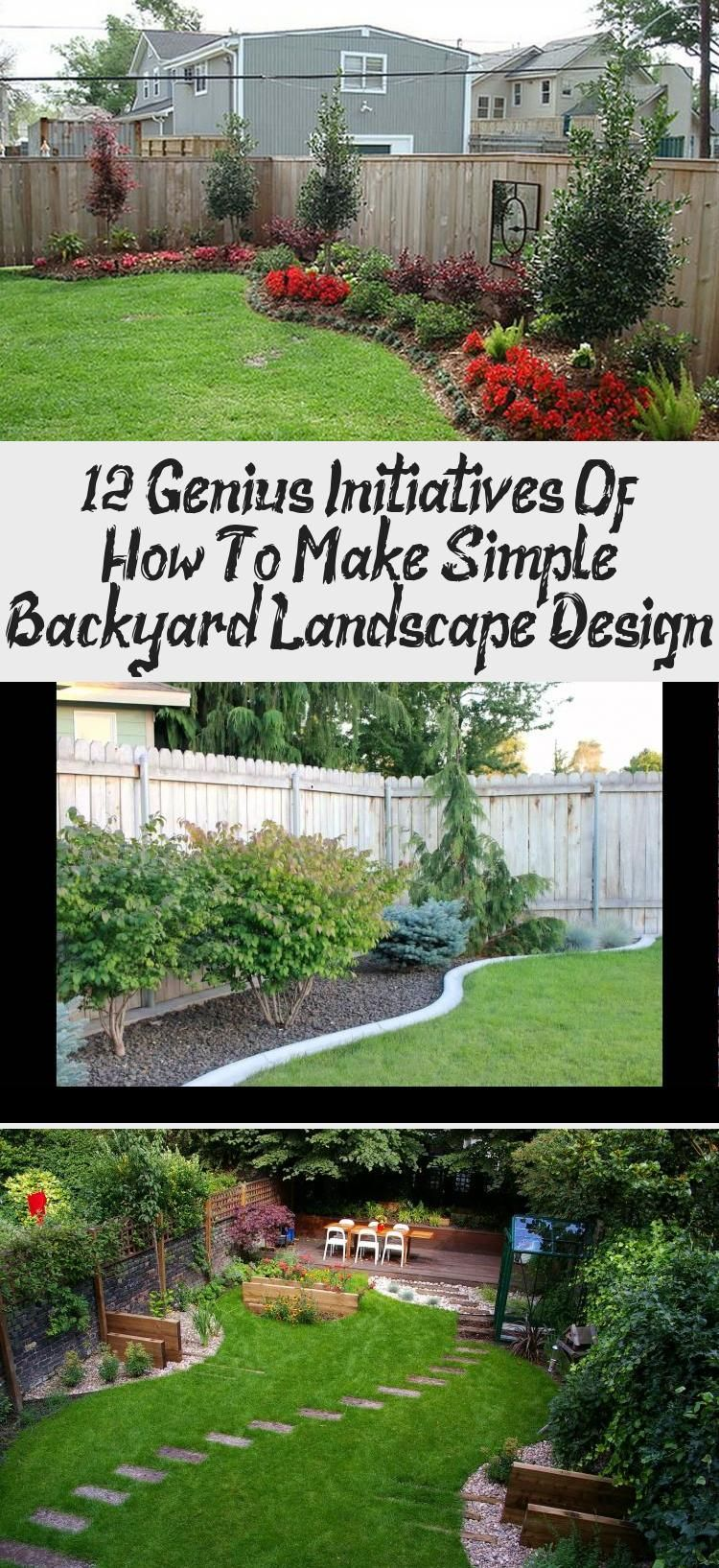 Photo of Simple Backyard Landscape Designs Home Design pertaining to 12 Genius Initiative…