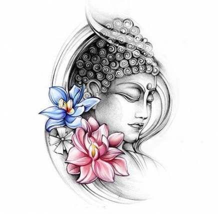 54+ Trendy Tattoo Lotus Buddha Design