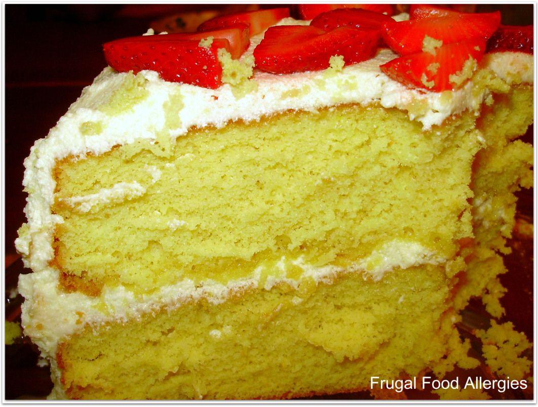 Yellow Banana Cream Cake Dairy Free Frugal Food Allergies Fruity Cake Vegan Frosting Banana Cream Cakes
