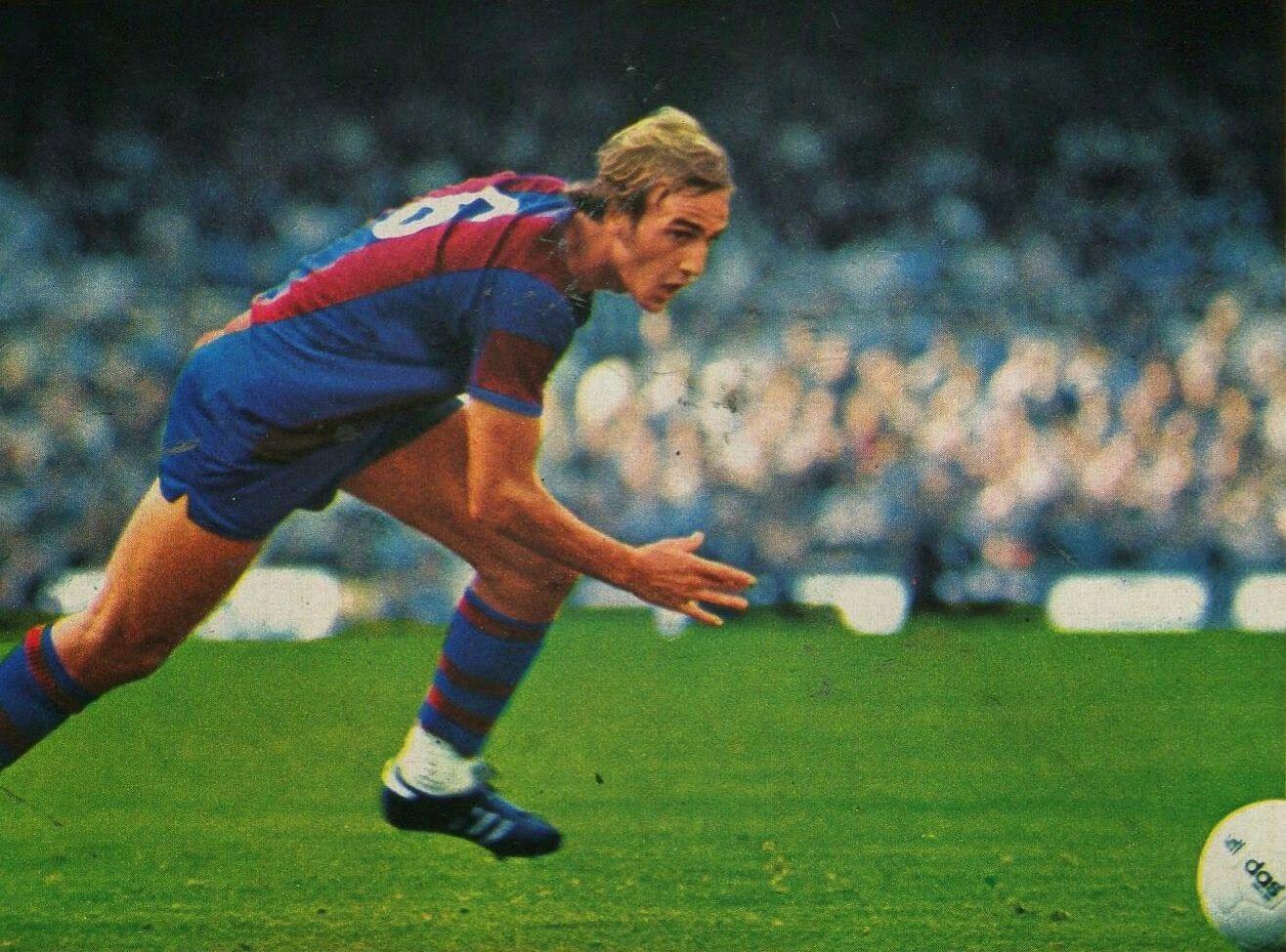Johan Neeskens of Barcelona in 1976 1970s Football