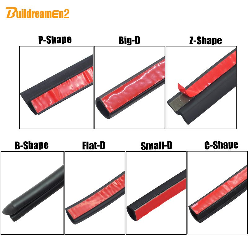 Buildreamen2 Auto Door Hood Trunk Weatherstrip Seal Strip Sealing Trim Car Styling For Toyota Yaris Levin Aygo Aven Noise Insulation Weather Stripping Car Wash