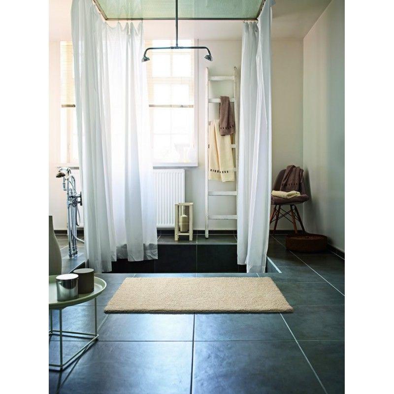 Tapis de bain antidérapant beige Natural Remedy Esprit Home   - antiderapant salle de bain