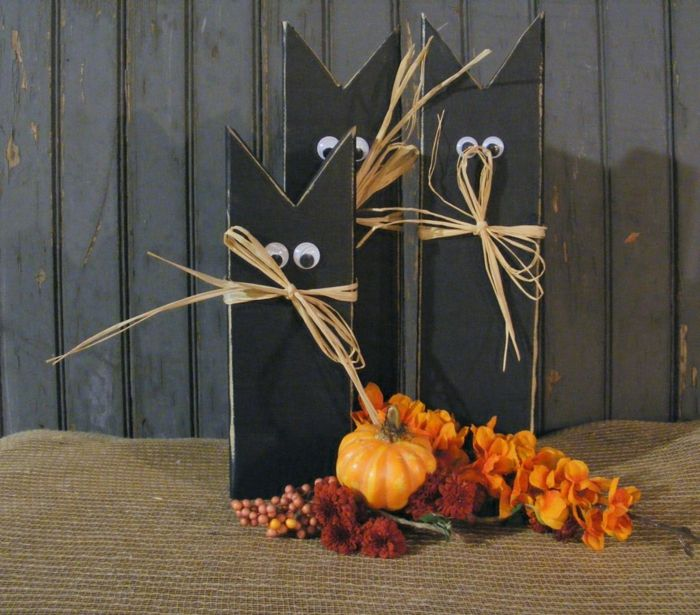 Halloween Ideen Deko Selber Machen Aus Holz