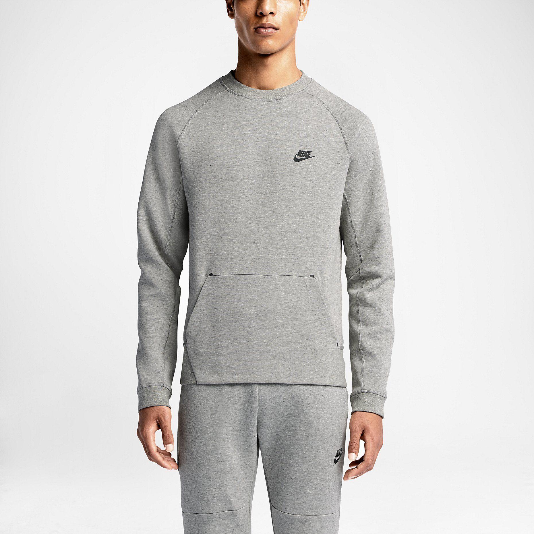 Men's Nike Tech Fleece AW77 Large Zip Hoody Dark Grey 559592