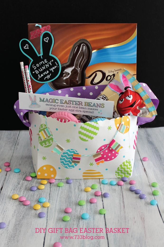 Diy gift bag easter basket gift ideas negle Gallery