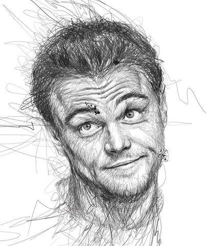 Leonardo DiCaprio! Very creative artwork! Made by Vince Low